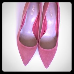 Pink Suede Aldo Heels
